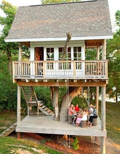 These homeowners built a treehouse to provide fun all summer for friends, family and guests. Details: www.midwestliving...