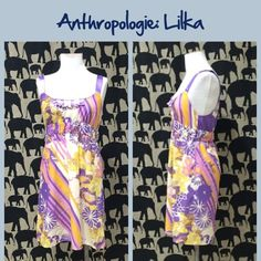 "Anthro ""Vacation Chemise"" by Lika Great condition.  **  Prices are as listed- Nonnegotiable.  I'm happy to bundle to save shipping costs, but there are no additional discounts.  No trades, paypal or condescending terms of endearment  ** Anthropologie Dresses"