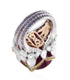 Lotus Rubellite ring