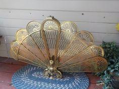 Vintage Ornate Brass Eagle /Dragon/ Fan by Daysgonebytreasures