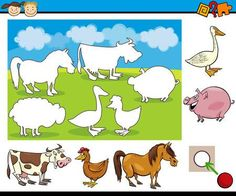 Animals picture for kindergarten – A Selection of Pins about Animals Jungle Preschool Themes, Preschool Learning Activities, Preschool Printables, Preschool Worksheets, Book Activities, Farm Animals For Kids, Kids Zoo, English Conversation For Kids, Educational Games For Kids