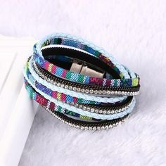 Multilayer Leather Bracelets For Women Double circle magnetic Bracelets