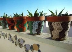 pots in mosaic - Google Search