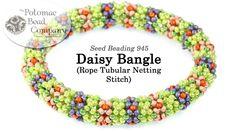 Daisy Bangle Rope (Tubular Netting Stitch Tutorial)