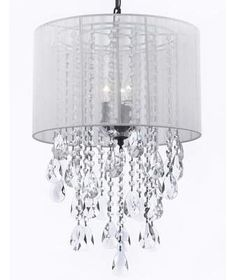 This beautiful Chandelier is trimmed with Empress Crystal(TM) Crystal Chandelier. A Great European Tradition. Nothing is quite as elegant as the fine cryst Crystal Chandelier Lighting, Drum Chandelier, Drum Pendant, Lantern Pendant, Chandeliers, White Chandelier, Led Ceiling Lamp, Ceiling Lights, Gallery Lighting