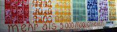Mehr als 5000 Möglichkeiten, die das Feinkostgelände eröffnet, verspricht dieses Plakat aus den Anfangszeiten der Kunst- und Gewerbegenossenschaft Feinkost eG. www.feinkostgenossenschaft.de