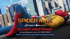 Watch the Spider-Man: Homecoming World Premiere Event Tonight! - http://www.eatyourcomics.com/2017/06/28/watch-the-spider-man-homecoming-world-premiere-event-tonight/  #Comics, #Marvel, #MovieTrailers, #Movies, #PressReleases