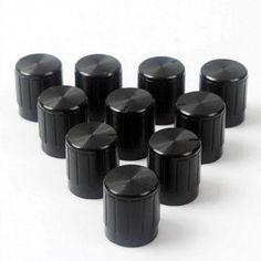 #GearBest - #Gearbest 10PCS  Black Plastic Potentiometer Knob 6mm Shaft Hole - AdoreWe.com