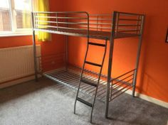 Children's Double Bunk Bed Metal Framed (with/ Without Matresses) 199 Cm X 96 Cm
