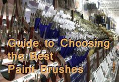 A guide for fine art painters on how to choose and use paint brushes, the best artist's working tools. To achieve the desired painting effects you must choose the right brush for the job.