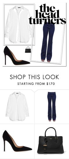 """TRIANGULO JEANS"" by aguiar-pilutti on Polyvore featuring moda, The Row, MICHAEL Michael Kors, Gianvito Rossi y DKNY"