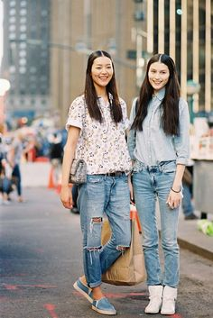 Vanessa Jackman: New York Fashion Week SS 2014....Lui Wen and Sui He