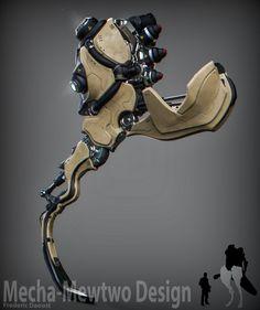 ArtStation - Mecha Mewtwo design (Legs), Frederic Daoust