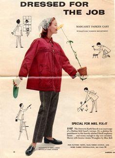 Unsung Sewing Patterns: Woman's Day 5107 - Down-to-Earth Smock