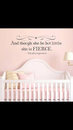 For a baby girls room.
