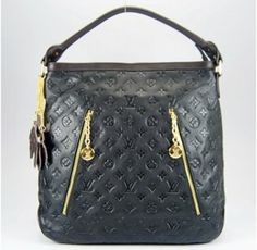Louis Vuitton Handbags,Louis Vuitton Genuine Leather Handbag M96513 Black/Coffee