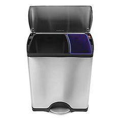 simplehuman® 12 gal. Stainless Steel 2-Bin Recycler | Spring Organization SALE