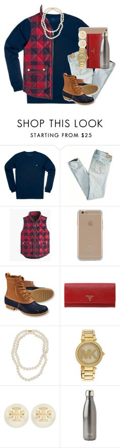 """""""favs tag <3"""" by thefashionbyem ❤ liked on Polyvore featuring Southern Tide, American Eagle Outfitters, J.Crew, Agent 18, L.L.Bean, Prada, Belpearl, Michael Kors, Tory Burch and S'well"""