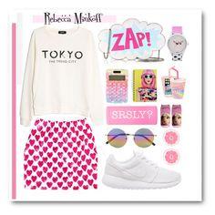 """ZAP!"" by bombaysapphire ❤ liked on Polyvore featuring Rebecca Minkoff, MANGO, Harajuku Lovers, NIKE, Skinnydip, Linda Farrow, contest, mango, rebeccaminkoff and nike"
