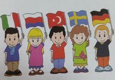 ülkeler ve bayrakları Classroom Decor, My Boys, Montessori, Singing, Nursery, The Incredibles, Education, Country, School