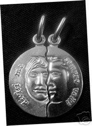 Divisi ma sempre uniti Silver Break charm Love Italy Sterling Silver 925 Jewelry