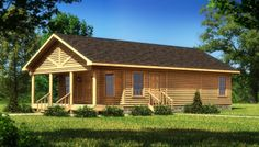 Ashford - Log Home / Cabin Plans | Southland Log Homes - Style - smaller scale