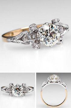 Vintage 1940s Diamond Engagement Ring.