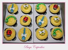 Bugs Cupcakes Bug Cupcakes, Bugs, Desserts, Food, Meal, Bicycle Crunches, Deserts, Essen, Hoods