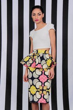 NEW The Kait Peplum Skirt by DemestiksNewYork on Etsy