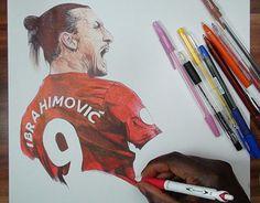 """Check out new work on my @Behance portfolio: """"Zlatan Ibrahimovic Ballpoint Pen…"""
