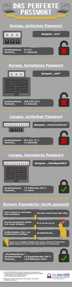 [Infografik] Das sichere Passwort » Die folgende Infografik, diesmal sogar in deutscher Sprache, macht ...