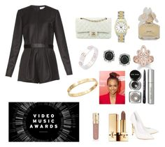 """VMA"" by itspxulineee ❤ liked on Polyvore featuring Raey, Casadei, Rolex, Cartier, Chanel, Cachet, Mark Broumand, Bobbi Brown Cosmetics, Marc by Marc Jacobs and Yves Saint Laurent"