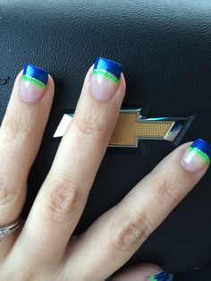 My Seahawks nails!!!