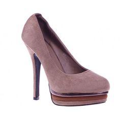 Pantofi cu platforma beige Julieta