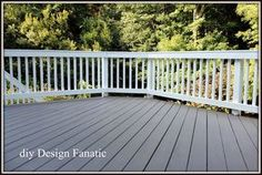 Behr custom color solid deck stain (color matched) from the Home Depot