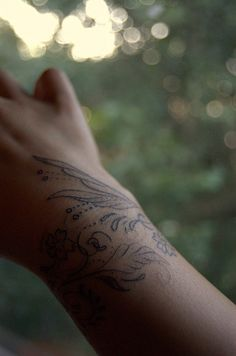 so lovely, wrist tattoo