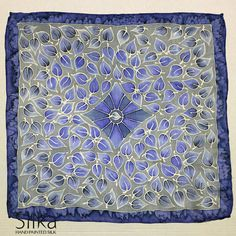 Silk pocket square blue leaves Hand painted silk Groomsmen gifts wedding mens handkerchief OOAK gift for him   Silk, blue leaves pocket square is hand painted with professional French silk dyes and steam to fix the colours. It has hand rolled and hand sewn edges. OOAK, unique gift for him.  Measurements: approximately 11,02 x 11,02 inches (28 x 28 centimeters)  This luxurious, unique silk pocket square is a timeless piece for men with exceptional taste. As with most of our accessories, you…