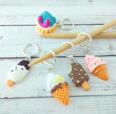 Knitting Notion Stitch Marker Progress Keeper Gift for Knitter Food Charm Knitting Marker Miniature Food Breakfast Plate Charm