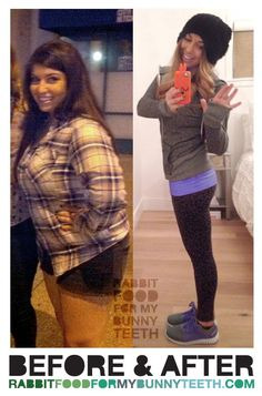 80 lb weight loss #beforeandafte r- Rabbit Food For My Bunny Teeth - Weight Loss Blog