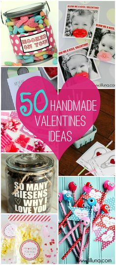 Valentine's Day is right around the corner and are you ready for your Valentine gifts? Whether you are preparing gifts for friends, family or for an important someone these 50 great Valentine gift ideas will give you a head start. Kinder Valentines, My Funny Valentine, Valentines Day Treats, Valentine Day Love, Valentine Day Crafts, Holiday Crafts, Holiday Fun, Valentine Ideas, Unique Valentines Day Gifts