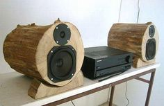 #DIY #Wood Log Speakers - 7 Inspiring DIY Wood Log #Projects | DIY Recycled