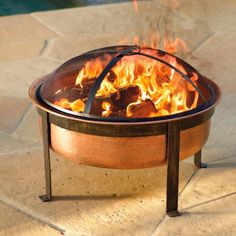 Gather around our hand-hammered, pure-copper firepit for a fireside chat. After the fire's out and the firepit has cooled, convert it into a coffee table with our pure-copper tray (sold separately). Versatility and classic style make our firepit set the perfect combination for any outdoor living room.  Firepit and tray crafted from pure, hand-hammered copper8-gauge metal (4-mm thickness) used for legs and frame Firepit includes a fire grate, a dome screen, and a poker Sturdy, wrought-iron…