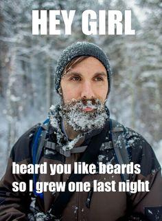 Beard sayings, beard quotes, beard funnies, beard memes, hey girl beard, hey girl, funny beard sayings