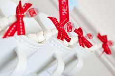 to go in the mugs for the girls~ love the skewered mini marshmallows with the topper and bow