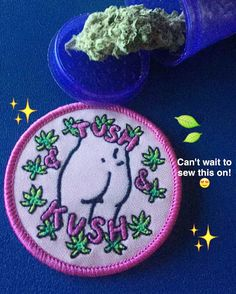 Iron on patch from www.shopstaywild.com  #cannabis #weed #marijuana #bong #grinder #pipe #grinder