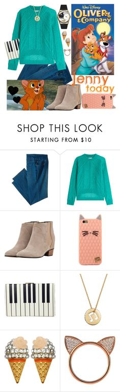 """""""Disney Oliver Jenny today"""" by micuwinter ❤ liked on Polyvore featuring Jag Jeans, Vionnet, Golden Goose, Kate Spade, Eliot Danori, Kate Marie, Aamaya by Priyanka and modern"""