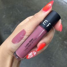 """This color though Sephora Luster Matte Long-wear Lip Color in Fig Luster✨it's not a liquid lipstick that dries down to an anti-transferable matte stain,…"""