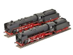 Revell 1:87 Express Train Locomotives BR 01 & BR 02 by Revell. $38.99. This plastic model kit requires plastic cement and paint for assembly, and they are sold separately.. The 01 class was first built in 1925 as a completely new generation of locomotives for the then Deutsche Reichsbahn. Its elegant lines were an attractive change from many locos that had so far been built and marked the beginning of a new era of German locomotive design. The locomotive had a two-cylinde...