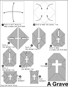Origami A Grave instructions