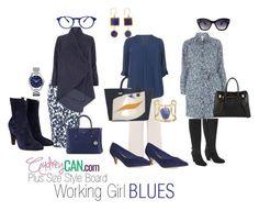 Plus Size Style Board: Working Girl Blues